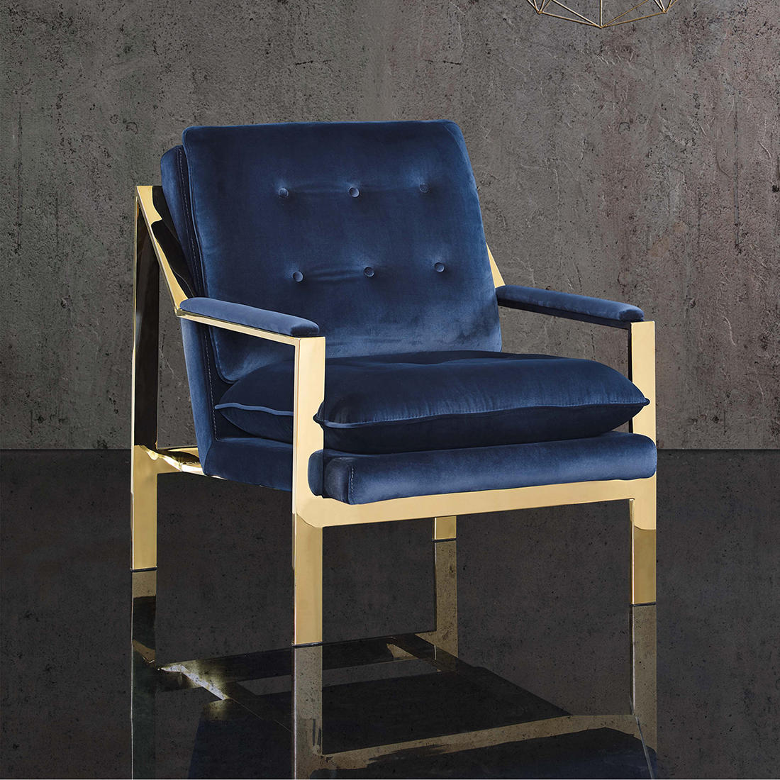 Awe Inspiring Picket House Furnishings Tribeca Accent Chair Navy Blue Pdpeps Interior Chair Design Pdpepsorg