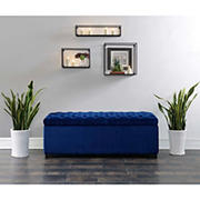 Picket House Furnishings Carson Storage Bench - Navy Blue