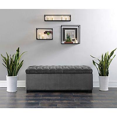 Picket House Furnishings Carson Storage Bench - Slate