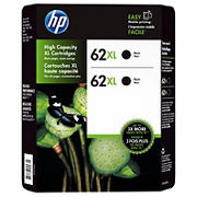 HP 62XL Black Ink Cartridges, 2 pk.