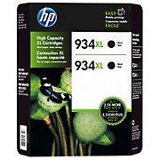 HP 934XL Black Ink Cartridges, 2 pk.