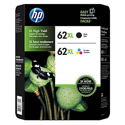 HP 62XL Combo Ink Cartridges, 2 pk.