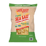 Late July Organic Sea Salt Thin & Crispy Tortilla Chips, 22 oz.