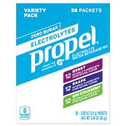 Propel Powder Water Beverage Mix, 36 pk.