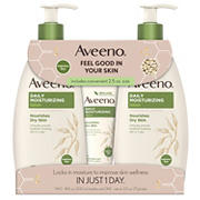 Aveeno Daily Moisturizing Lotion For Dry Skin, 2 pk./18 fl. oz. with Bonus 2.5 oz. Bottle