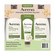Aveeno Daily Moisturizing Lotion For Dry Skin, 2 pk./18 fl. oz. with Bonus 2.5 oz. Bottle