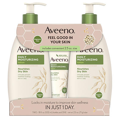 Aveeno Daily Moisturizing Lotion For Dry Skin, 2 pk./18 fl. oz. with B