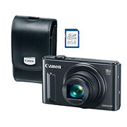 Canon PowerShot SX610 20.2MP CMOS 18x Zoom Wi-Fi Camera with 8GB SDHC and Leather Case