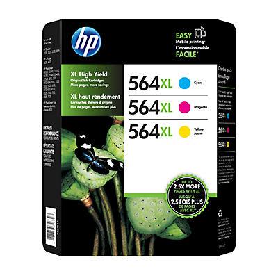 HP 564XL Color Ink Cartridges, 3 pk.