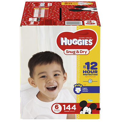 Huggies Snug & Dry Size 6 Diapers, 144 ct.