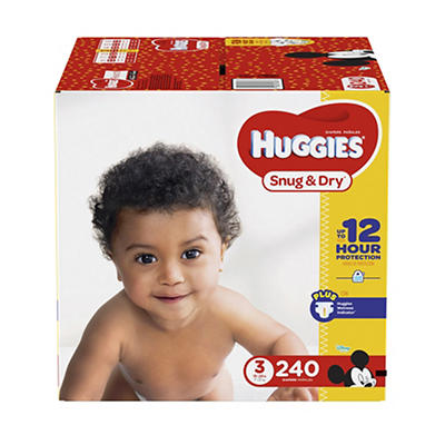 Huggies Snug & Dry Size 3 Diapers, 240 ct.