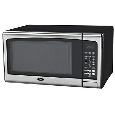 Oster 1.1-Cu.-Ft. 1,000W Microwave Oven - Stainless