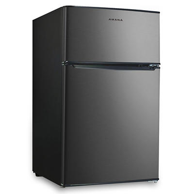Amana 3.1-Cu.-Ft. Dual-Door Refrigerator - Stainless