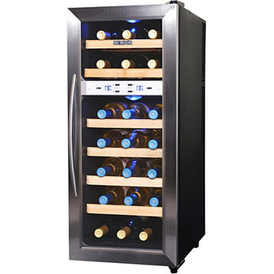 NewAir AW-211ED 21-Bottle Dual-Zone Thermoelectric Wine Cooler