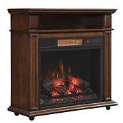 Duraflame Infragen Rolling Mantel Electric Fireplace - Walnut Brown