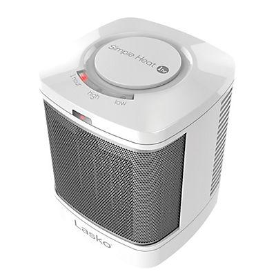 Lasko Simple Heat Ceramic Bathroom Heater - White/Silver