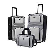 U.S. Traveler New Yorker 3-Pc. Luggage Set - Gray