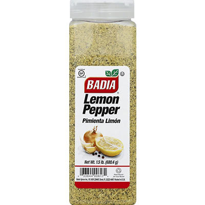 Badia Lemon Pepper, 24 oz.