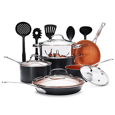 Gotham Steel 15-Pc. Aluminum Cookware Set