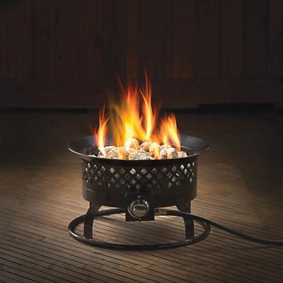 Bond Aurora Steel Gas Fire Bowl - Black