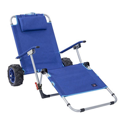 Mac Sports Beach Cart Lounger - Blue