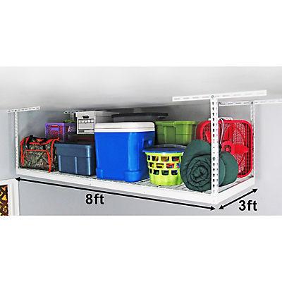"SafeRacks 3' x 8' Overhead Storage Rack, 18""-33"" Ceiling Drop"