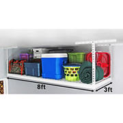 "SafeRacks 3' x 8' Overhead Storage Rack, 24""-45"" Ceiling Drop"