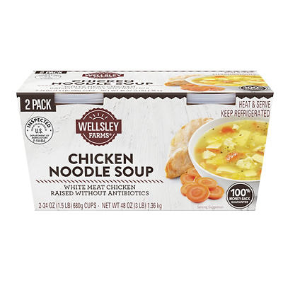 Wellsley Farms Chicken Noodle Soup, 2 pk./24 oz.
