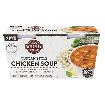 Wellsley Farms Tuscan Chicken Soup, 2 ct./24 oz.