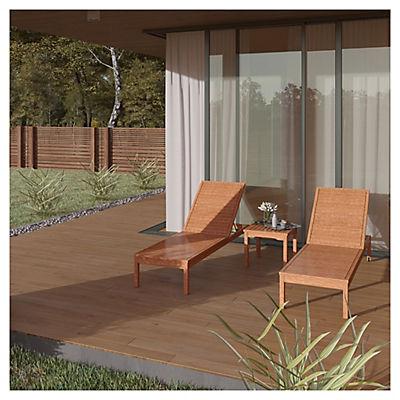 Amazonia Las Vegas 3-Pc. Wheeled Chaise Lounger Patio Set - Brown/Whit