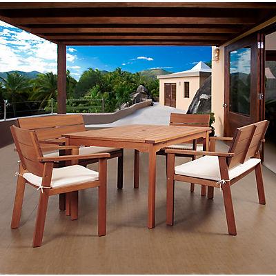 Amazonia Santiago 5-Pc. Eucalyptus Dining Set - Brown/Beige