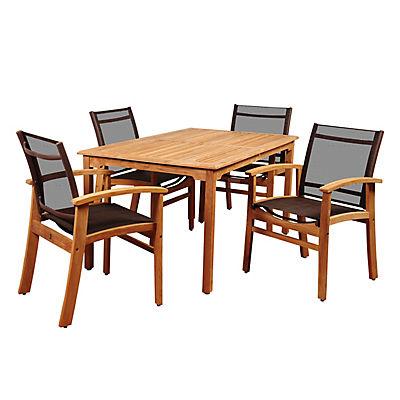 Amazonia Fortune 5-Pc. Teak Dining Set - Brown