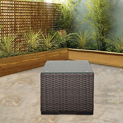 Atlantic Oakland Wicker Patio Side Table - Gray