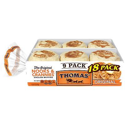 Thomas' English Muffins, 2 pk./9 ct.