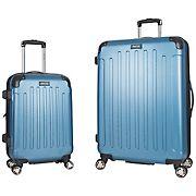 "Kenneth Cole Reaction 20"" and 28"" Hardside Luggage Set - Ice Blue"