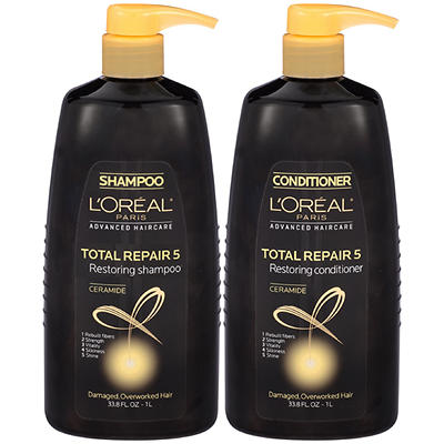 L'Oreal Paris Total Repair 5 Shampoo and Conditioner Twin Pack, 33.8 o