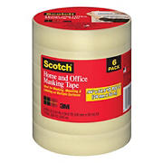 Scotch Home and Office Masking Tape, 6 pk.