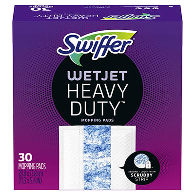 Swiffer WetJet Hardwood Floor Spray Mop Pad Refill Extra Power, 30 ct.