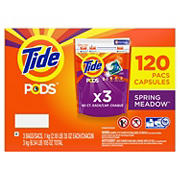 Tide PODS Liquid Laundry Detergent Pacs, Spring Meadow, 120 ct.