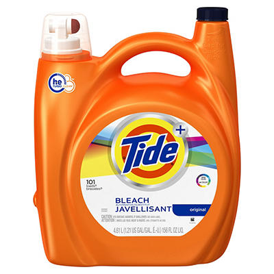 Tide Plus Bleach Alternative Original HE Liquid Laundry Detergent, 156