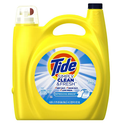 Tide Simply Clean & Fresh Refreshing Breeze Liquid Laundry Detergent,