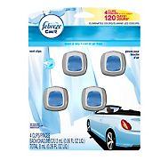 Febreze 2mL Car Vent Clips Linen and Sky Air Fresheners, 4 pk.