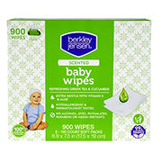 Berkley Jensen Green Tea & Cucumber Scented Baby Wipes, 9 pk./100 ct.