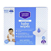 Berkley Jensen Unscented Baby Wipes, 9 pk./100 ct.