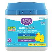 Berkley Jensen Complete Infant Formula with Iron, Milk-Based Powder, 42 oz.