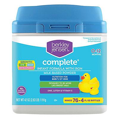 Berkley Jensen Complete Infant Formula with Iron, Milk-Based Powder, 4