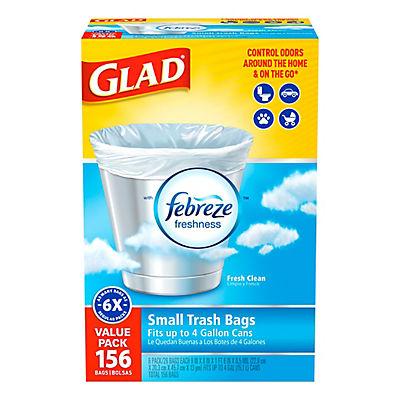 Glad 4-Gal. Small Trash Bags, 156 ct.