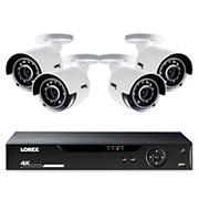 Lorex 8-Channel 4-Camera 4K Security System with 1TB HDD DVR