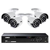 Deals on Lorex 8-Channel 4-Camera 4K Security System w/1TB HDD DVR