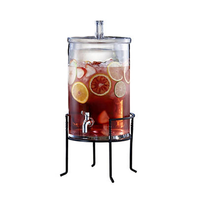 Jay Imports 2.5-Gal. Beverage Dispenser with Metal Stand
